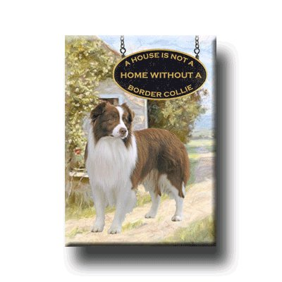BORDER COLLIE A House Is Not A Home FRIDGE MAGNET 2