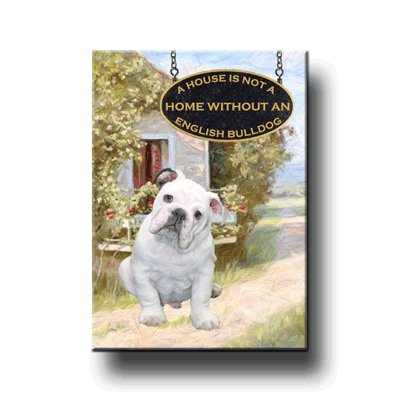 ENGLISH BULLDOG A House Is Not A Home FRIDGE MAGNET No3
