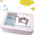 Sweet Retro Style Advertizement Pink Television For Business Cards Name Cards Little Trinkets