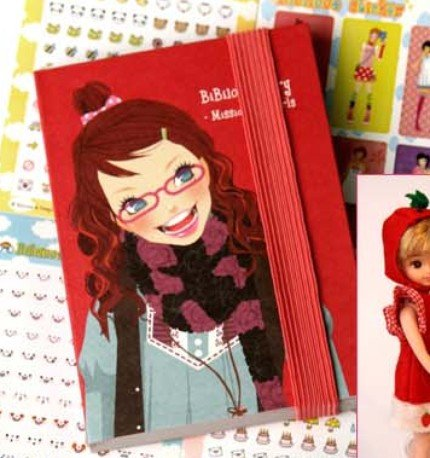 Pretty Bibi1004 Mission For Girl Red Korea Any Year Planner Diary