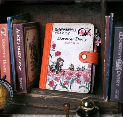 Lovely Wizard Of Oz Dorothy Any Year Daily Planner Diary With Faux Leather Cover Pen And Stickers