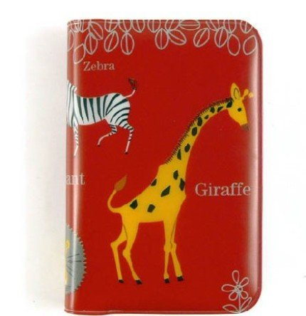 Cute Zebra Giraffe Lion Zoo Animal Theme Name Credit Card Case Holder