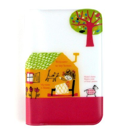 Cute Welcome To My House Animal House Cartoon Name Credit Card Case Holder