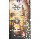 Surreal Retro Style Old Telephone World Notebook Travel Passport Holder Case