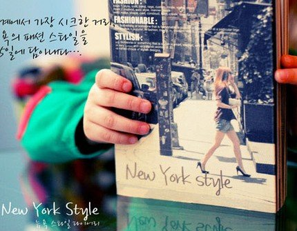 Wonderful New York America Theme Any Year Planner Diary With Cloth Card Holder
