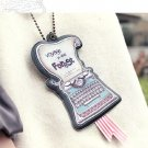Quaint Retro Typewriter Design Luggage Bag Name Tag Charm