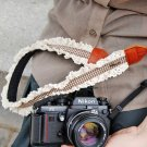 Wonderful Zakka Style Doma Brown And White Lace Trim Camera Strap