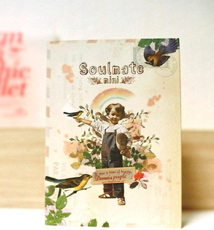 Very Cute Retro Style Doma Soulmate Any Year SMALL Planner Diary Journal