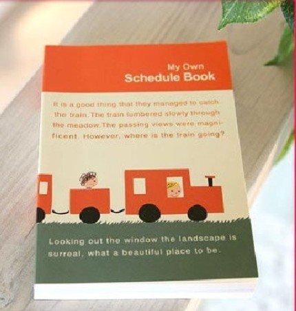 Cute Shinzi Katoh Train Any Year Diary Planner