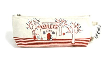 Sweetest Shinzi Katoh Tea Time Cafe Design Fabric Pencil Case