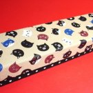 Cute Japanese Cats Cloth Fabric Artbox Pencil Case Box