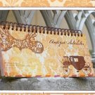Very Quaint And Pretty Peach Victorian Floral Lace Design Weekly Planner Diary