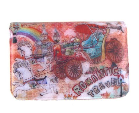 Sweetest Colorful Horse Rainbow Castle Cartoon Name Credit Card Case Holder