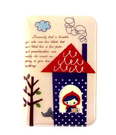 Sweet Zakka Style Little Red Riding Hood Cartoon Name Credit Card Case Holder
