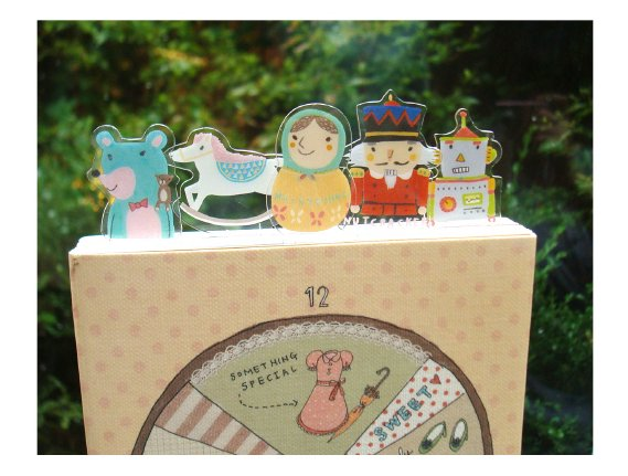 Rocking Horse Doll Robot Toy Bookmarks Set