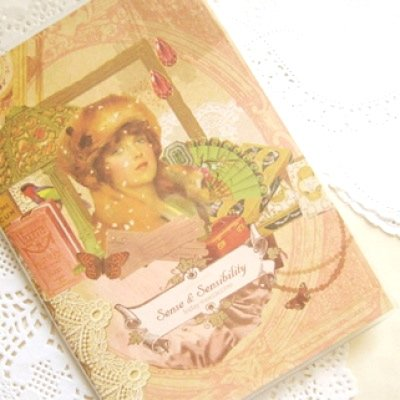 Victorian Vintage Floral Lace Any Year MONTHLY Slim Planner Diary