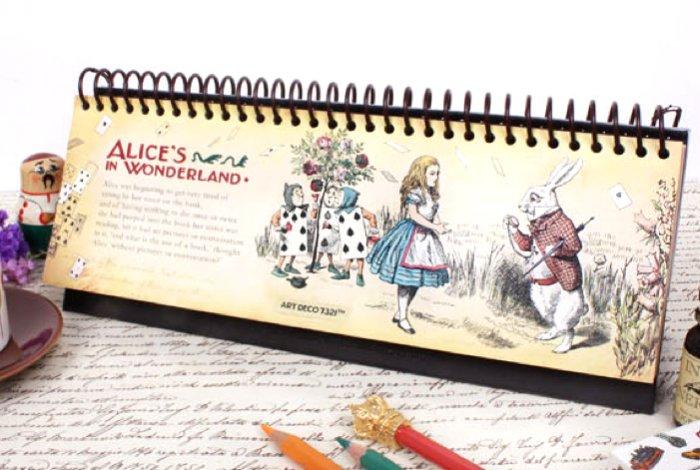 Alice In Wonderland Long Month Weekly Planner Diary