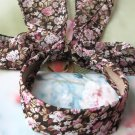 Sweet Brown Pink Flowers Long Tail Hairband Headband