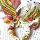 Zakka Colorful Stripes Lace Ponytail Holder