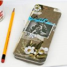Cool Retro Style Lady And Flower Doma Metal Case