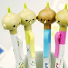 Kawaii Mr Potoro Bean Food Bobble Heads Ink Pens 2's - Blue And Yellow