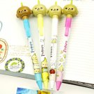 Kawaii Mr Potoro Bean Food Bobble Heads Ink Pens 2's - White And Pink