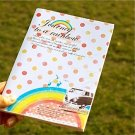 Retro Style Journey To A Rainbow Van Notebook Journal