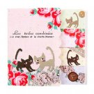 Zakka Cat Flower Garden Lace Button Sticky Post It Note Memo Pad