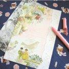 Vintage Style Shabby Chic Romantic Flowers Letter Set Letterset