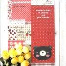 Zakka Artbox Red Brown Bear Country Quilt Journal Notebook