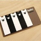Kawaii Black White Panda Bear Cartoon Sticky Post It Memo Note Pad