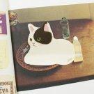 Jetoy Black White Kitten Cat Animal Sticky Scrapbook Paper Note Pad