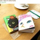 Jetoy Cats 2 In 1 Small Notebook Sketchbook Journal - Bunny And Apple