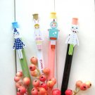 Kawaii Rabbit Cat Robot Cartoon Ballpoint Pens 4's - Set A