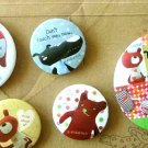 Kawaii Colorful Bear Doll Soft Toy Pins Badge