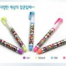 Kawaii Rainbow Colors 5 Fruity Gel Ink Colors Popcorn Craft Pens