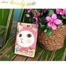 Cute Jetoy Pink Cat Blue Bird Notebook Diary Journal