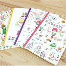 Kawaii Children Animal Pets Stars Rainbow Notebook Journal 4 Notebook 4 Designs