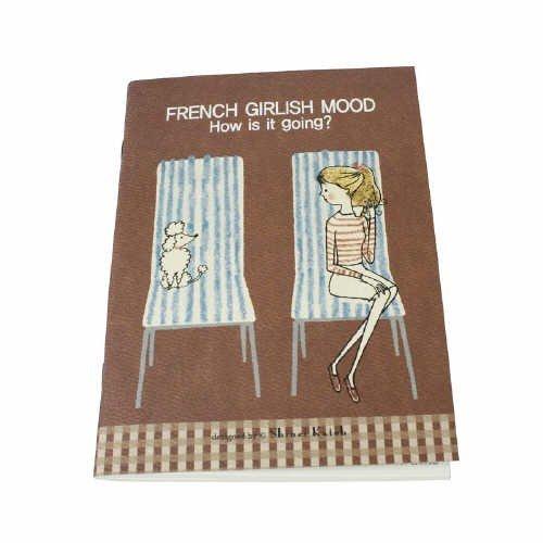 Sweet Shinzi Katoh French Girlish Mood On Chair Theme Brown Medium Size Notebook