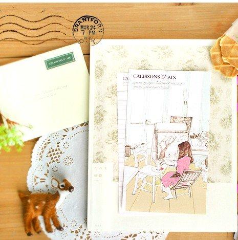 Zakka Little Girl Painting Picture Letter Set Letterset