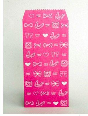 Lovely Pink Ribbon Shoes Heart Letter Envelopes 5's