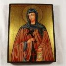 Hand Painted on wood Orthodox icon Saint Theodora from Sihla / Teodora de la Sihla (18 x 14 cm)