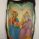 Hand Painted on wood Orthodox icon Holy Trinity ( 50 x 32 cm ) - Traditional From Romania