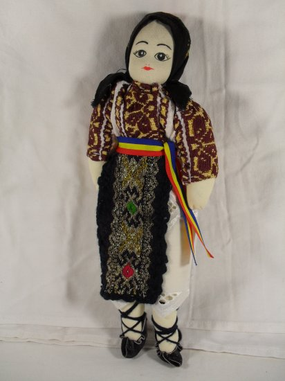 Traditional from Romania Handmade Doll in original folk costume
