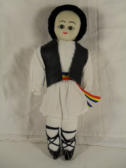 Traditional from Romania Handmade Doll in original folk costume