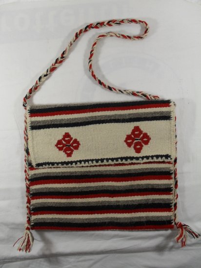 Traditional Romanian hand crafted bag Traista 100% natural wool
