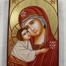 Hand Painted on wood Byzantine Orthodox icon Theotokos ( 14 x 10 cm ) traditional-from-romania.ro