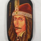 Dracula / Vlad Tepes Portrait Handpainted on Wood - Traditional From Romania