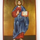 Painted on wood Orthodox Byzantine Icon Jesus Christ(29 x 21 cm) Traditional-From-Romania.ro