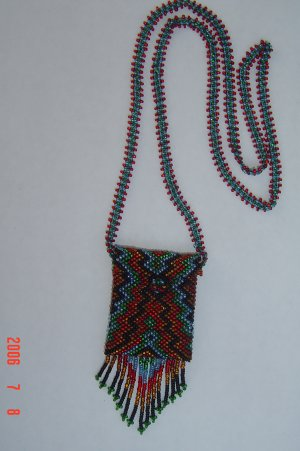 Medicine Amulet Bag Glass Seed Beads